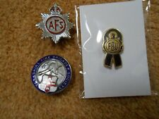 Fire Brigade Badges. FBU. AFS. Yorkshire Fire Brigade Society. Collectable.