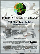 ORGANIC FERTILIZER Peruvian Seabird Guano, 5 POUND BAG! FREE PRIORITY SHIPPING!