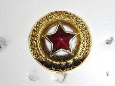 b9582 Korean War NK Korea Officer Visor hat Cap Star badge IR16A