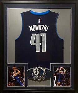 Dirk Nowitzki Framed Jersey JSA Autographed Signed Dallas Mavericks