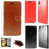 For HTC Desire 816 Leather Case - Flip Folio Wallet Pouch + Screen Protector