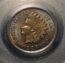 1907 PCGS MS64 Brown Indian Cent, rich medium brown surfaces