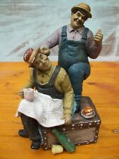 Vintage Laurel and Hardy  , Hand Painted Figurines , 1970`s
