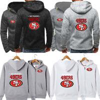 San Francisco 49ers Hoodie Football Hooded Sweatshirt Fleece Coat Gift For Fans