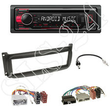 KENWOOD CD USB RADIO + Chrysler Grand Cherokee KJ MASCHERINA NERO + ADATTATORE ISO Set
