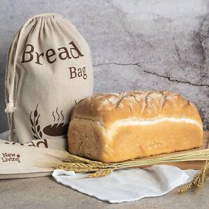 New Living Eco Linen, Bread Bag Food Storage Bag 38x27cm Uk Seller