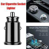 2 Way 12V USB Charger Car Cigarette Lighter Dual Socket Splitter Power Adapter