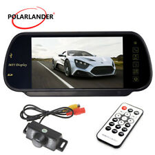 "7"" TFT-LCD Car Monitor Mirror  LED RearView Parking Camera MP5  /  HD Display"