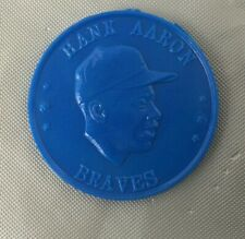 1960 ARMOUR BASEBALL COIN HANK AARON BLUE BRAVES MILWAUKEE DARK EX