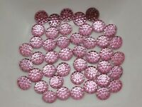500 Pink Round Flatback Resin Dotted Rhinestone Gems 6mm