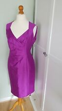 ALEXON Silk Blend Occasion Dress Size UK 16  Purple Evening Party Wedding