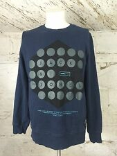 Men's Jack & Jones Core Sweat In Blue Graphic Print Urban British Medium (1063)