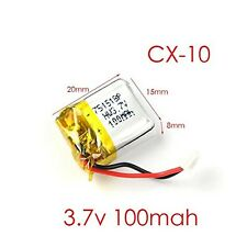 5pcs 3.7V 100mAh Battery for Cheerson CX-10 CX-10A FQ777-124 Mini RC Quadcopter