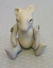 "antique German French Jointed Bisque Mouse Figure 2.5"" handpainted toy doll mini"