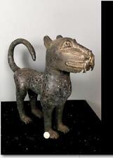 Old Tribal Large Benin Bronze Leopard Figure  --   Nigeria BN 57