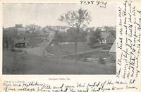 Spragues Mills Maine~Main Street of Our Village~Road to Our House~Logs~1906 PC
