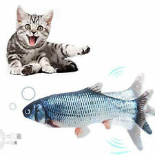 Electric USB Floppy Moving Fish Cat Toy, Realistic Plush Simulation For Cats