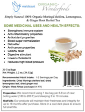 Simply Natural 100% Organic Moringa oleifera, Lemongrass Ginger Root Herbal Tea