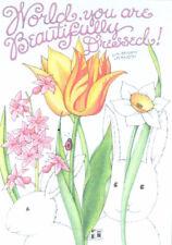 Beautifully Dressed World Tulips-Handcrafted Fridge Magnet-W/Mary Engelbreit art