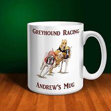 Greyhound Racing Personalised Ceramic Mug .  Perfect gift!