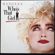 WHO'S THAT GIRL Madonna Film Soundtrack OST LP 1987 Guber-Peters Scritti Politti