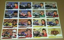 2006 INDIANAPOLIS 500 AUTOGRAPHED UNCUT SHEET 16 INDY CARDS WHELDON PATRICK ETC
