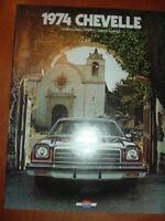 1974 Chevrolet Chevelle sales booklet