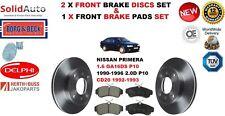 Pour Nissan Primera 1.6 2.0D P10 1990-1996 Disques De Frein Avant Set + Disc Pads Kit