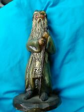 Vintage  Wizard Sorcerer Warlock Hand Sculpted Carved Candle huge 1979 dated