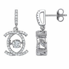 Cubic Zirconia Drop/Dangle Round Stone Costume Earrings