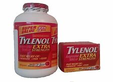 Tylenol EXTRA Strength: 325 + 50 Tabs - 500mg Acetaminophen Tablets USP [Health]