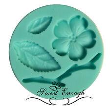 Blossom Hoja De Silicona molde molde sugarcraft Cupcake Toppers flor de fimo