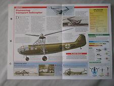 Aircraft of the World Card 94 , Group 3 - Focke-Achgelis Fa 223 Drache