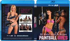 3D Bikini Girls in Action Paintball Girls Blu-Ray 3D NICE! 3-D Bluray Movie!!!!