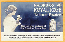 Real Photo Postcard - Royal Rose Talcum Powder National Drug & Chemical Canada