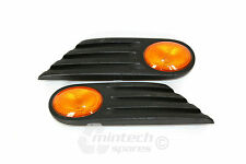 BMW Mini One Cooper S Side repeater inserts Amber Indicators x2 pair R56 R55 R57
