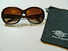 "Womens BLACK FLY Sunglasses ""Fly Browning"" Brown/Woodgrain Look w/Bag NEW"