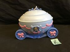 Disney Princess Cinderella Musical Jewelry Box Carriage Coach Figures Dance VGC