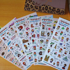 6 Sheets Cute Anne's Travel Diary Scrapbook Decoration Photo Korean Stickers