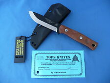 TOPS Fieldcraft 3.5 Brothers Of Bushcraft Knife Tan Micarta 1095 Carbon Kydex