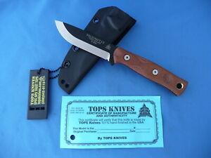 TOPS Fieldcraft 3.5 Brothers Of Bushcraft Knife Tan Micarta 1095 Carbon Kydex