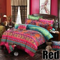 Home Comforter Bed Sheet Bohemian Bedding Set Pillowcase Linen Duvet Cover Style