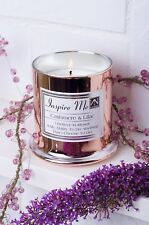 Candles Gift Set Luxury Rose Gold Cashmere & Lilac Scented Soy Wax With Quotes