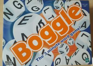 BOGGLE BY PARKER GREAT CLASSIC 3 MINUTE WORD GAME BRAND NEW SEALED PIECES 2000