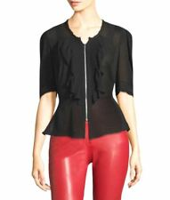 Women's Isabel Marant Black Qing Silk & Lace Blouse Top Size 42 FR NWTS
