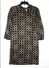 J.Crew Big- Rings Rollover 100% Silk Tunic/Dress Size 4