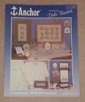 ANCHOR CROSS STITCH CHARTS LEAFLET COUNTRY WILDFLOWERS FLOWERS PLANTS