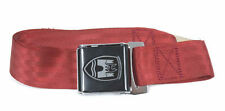 2-Point Seat Belt, Red, Black Buckle 50-67. VW Splitscreen Campervan Bus