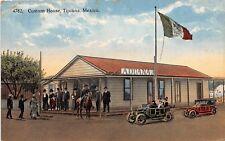 "D16/ Tijuana Mexico Mexican Postcard c1910 Custom House ""Aduana"" Autos"