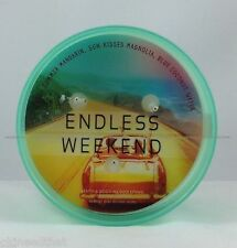 Bath & Body Works Endless Weekend candle 3 wick 14.5 oz Coastal turquoise glass